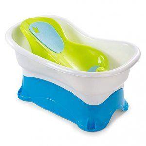 bañera-bebe-verde-blanco-azul-banco