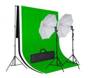 set-profesional-reflectores-fondo-verde