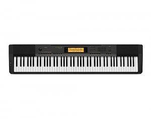 piano-digital-negro-pantalla-naranja