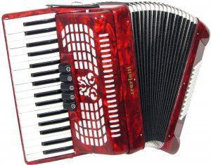 Acordeón Scarlatti-rojo