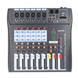 Mezclador-Audio-Ammoon-60S-USB
