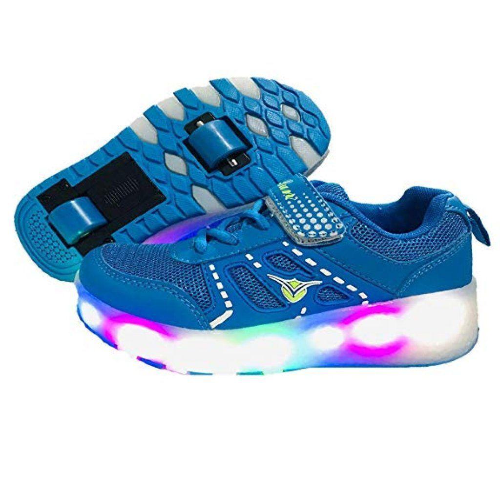 Unisex Recargable Led Luz Automática de Skate Zapatillas con Ruedas Zapatos Patines Deportes Zapatos para Niños Niñas