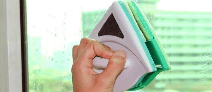 Esponja incorporada Resistente al Desgaste Cocina Duradera Dormitorio casero para Oficina Limpiacristales de dise/ño de Doble Cara Limpiacristales Limpiacristales magn/ético